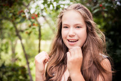 Cute teenage girl Royalty Free Stock Photos
