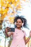 Cute Teenage Girl Having Fun Outdoors royalty free stock images