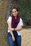 Cute Teenage Girl in Park Royalty Free Stock Photos