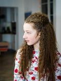 Cute teenage girl posing indoor Stock Images