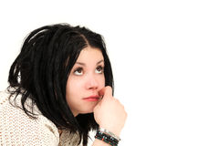 Cute teenage girl with rasta Royalty Free Stock Photography