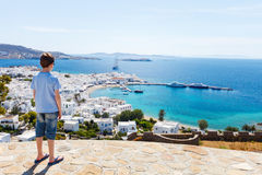 Cute teenage tourist enjoying views Stock Photo