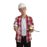 Cute teenager boy over white  background Stock Image