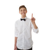 Cute teenager boy over white  background Stock Photography