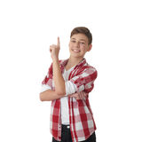 Cute teenager boy over white isolated background Royalty Free Stock Image