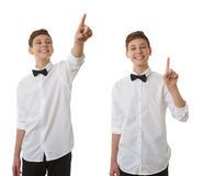 Cute teenager boy over white isolated background Stock Photos
