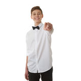 Cute teenager boy over white isolated background Royalty Free Stock Photo