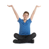 Cute teenager boy over white isolated background Stock Photo