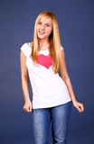 Cute teenager fashion Stock Photos