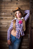 Cute teenager girl in a cowboy hat Stock Photo