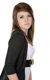 Cute Teenager Looking into the Camera Royalty Free Stock Photos