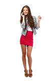 Cute teenager making a phonecall Royalty Free Stock Image