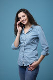 Cute teenager on the phone Royalty Free Stock Photos