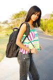 Cute teenager student stock photography