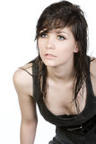 Cute Teenager with Wet Hair Stock Image