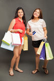 Cute teenagers shopping Royalty Free Stock Images