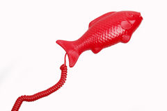 Cute telephone handset Stock Images