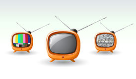 Cute television set Stock Images