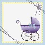 Cute template for baby card Royalty Free Stock Photo