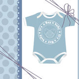 Cute template for baby card Royalty Free Stock Photography
