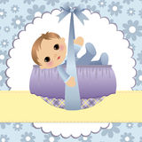 Cute template for baby card Royalty Free Stock Image