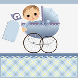 Cute template for baby card Royalty Free Stock Photos