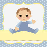 Cute template for baby card Stock Image