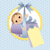 Cute template for baby card Stock Photo