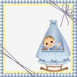 Cute template for baby card Stock Images
