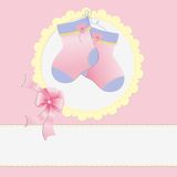 Cute template for baby postcard Royalty Free Stock Image