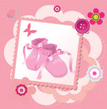Cute template for baby's arrival Royalty Free Stock Photography