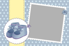 Cute template for baby's card Stock Image