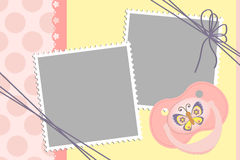 Cute template for baby's card Stock Images