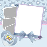 Cute template for baby's card Royalty Free Stock Photo