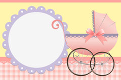 Cute template for baby's card Royalty Free Stock Photography