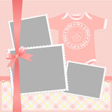 Cute template for baby's card Stock Photos