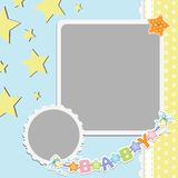 Cute template for baby's card Royalty Free Stock Photos