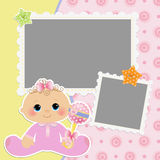 Cute template for baby's card Royalty Free Stock Image