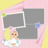 Cute template for baby's card Stock Photography