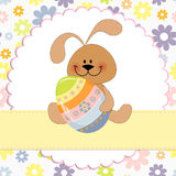 Cute template for Easter greetings card Stock Photography