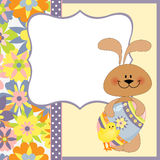 Cute template for Easter greetings card Stock Photos