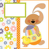 Cute template for Easter greetings card Royalty Free Stock Images