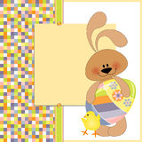 Cute template for Easter greetings card Royalty Free Stock Photography