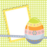 Cute template for Easter postcard Stock Image