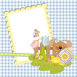Cute template for Easter postcard Stock Images