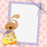 Cute template for Easter postcard Royalty Free Stock Photography