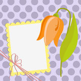 Cute template for Mother's Day postcard stock illustration