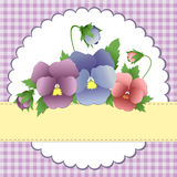 Cute template for Mother's Day postcard Royalty Free Stock Photo
