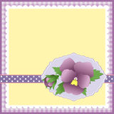 Cute template for Mother's Day postcard Royalty Free Stock Photos