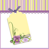 Cute template for Mother's Day postcard Royalty Free Stock Images